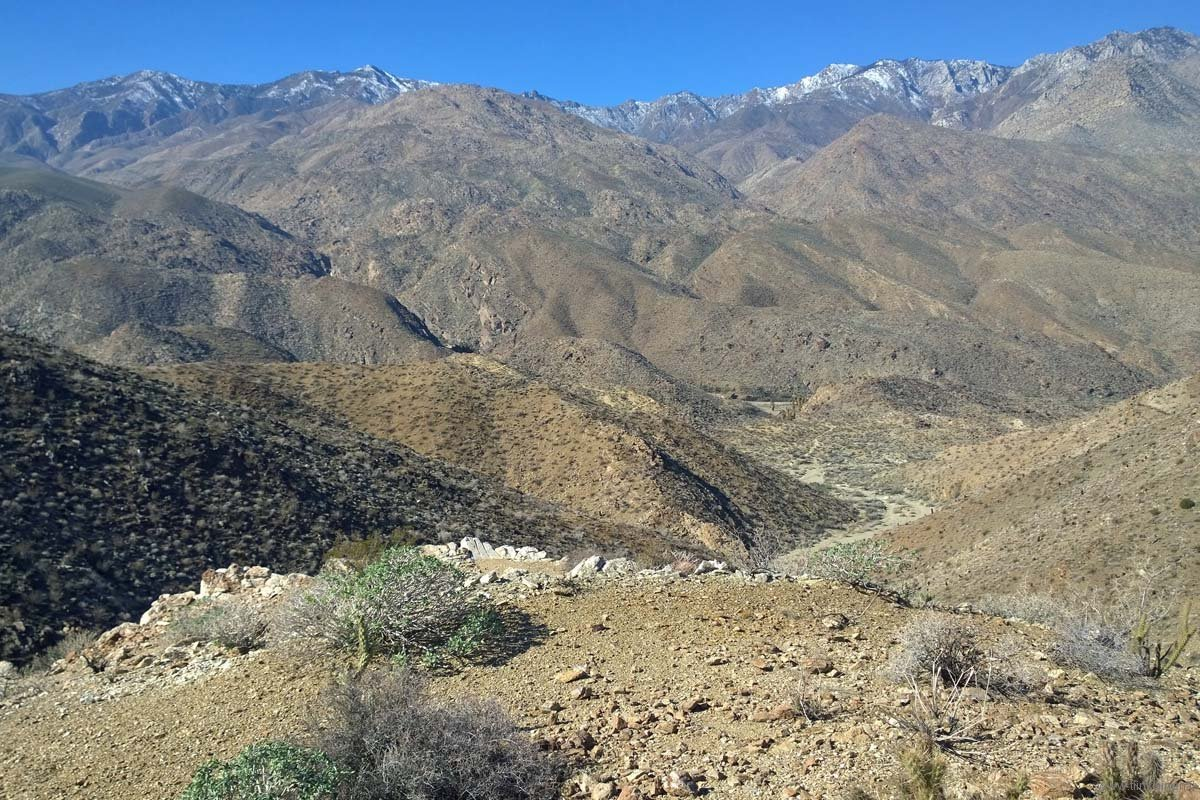 Fern Canyon view to Indian Canyons and San Jacinto Mountain