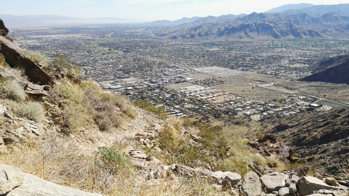 Tahquitz Creek and southern Palm Springs from Skyline