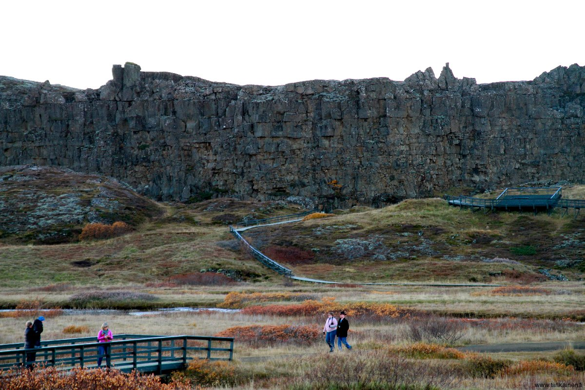 rift wall in thingvellir iceland