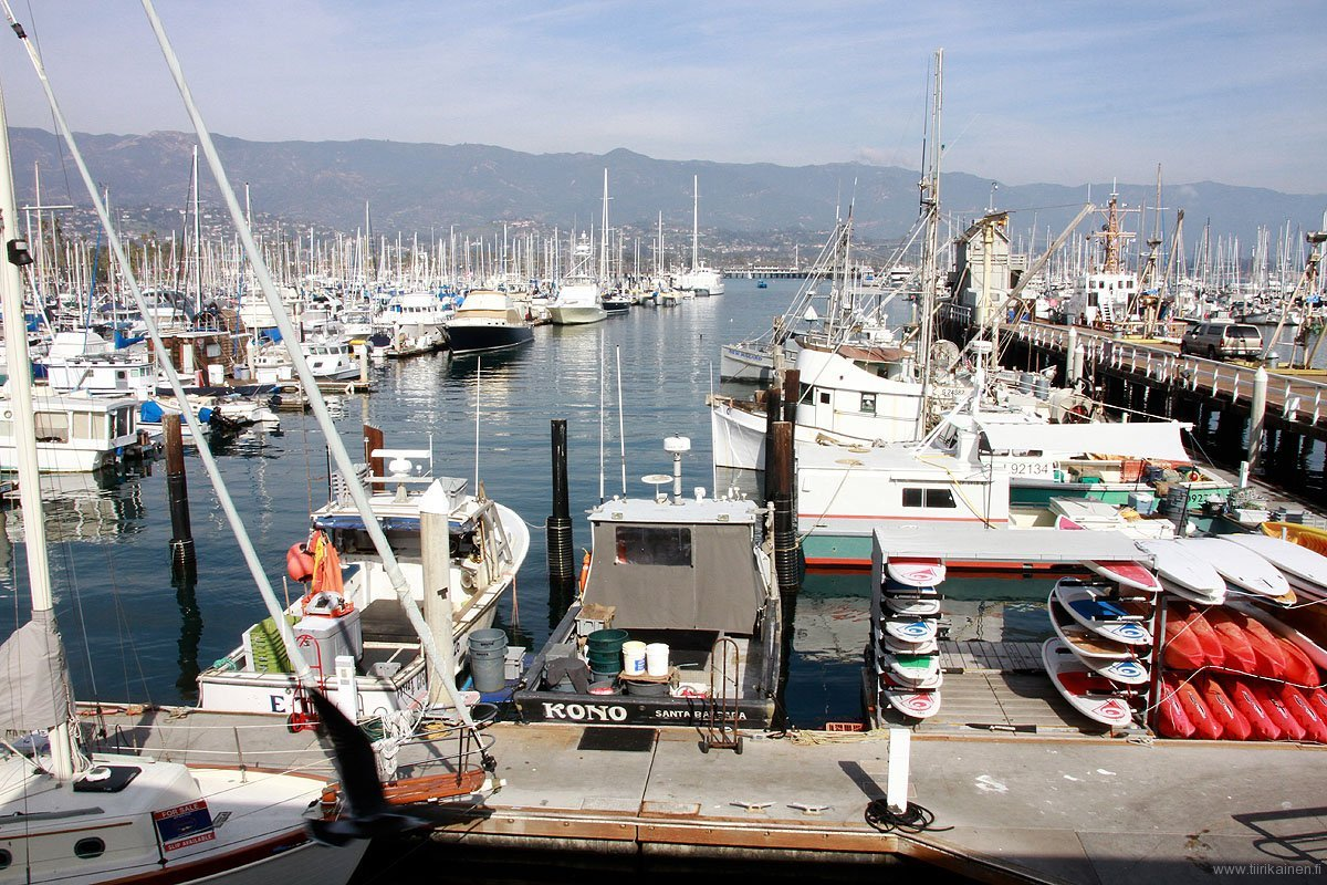 Boats in Santa Barbara Harbor