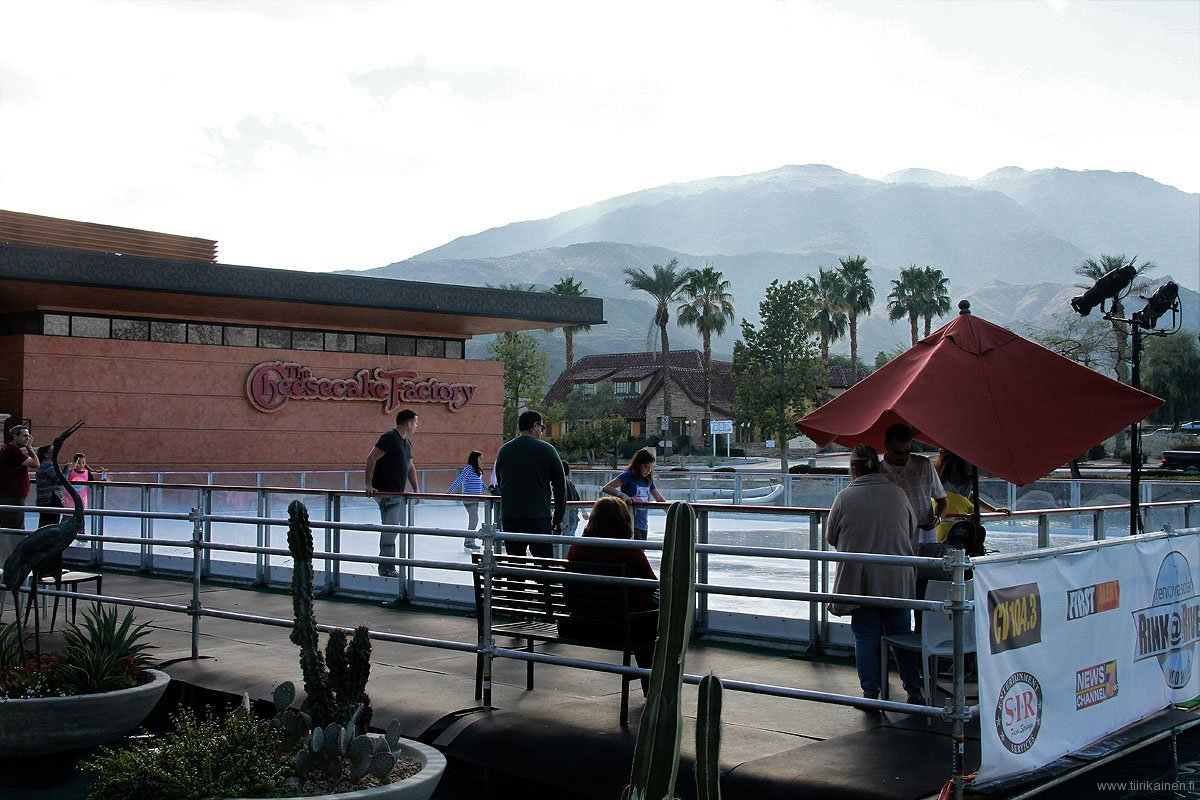 ice rink at rancho mirage river