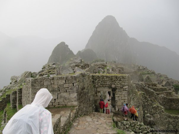 thunderstorm in machu picchu january