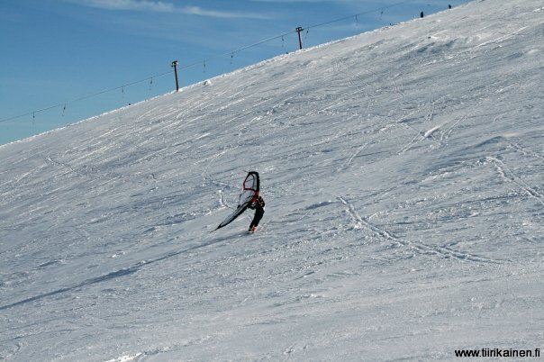 skisurfing around yllas fell the whole day